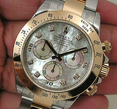 $ CDN28618.65 • Buy Rolex Daytona 116503 Two Tone Steel & Yellow Gold White Mother Of Pearl Diamond