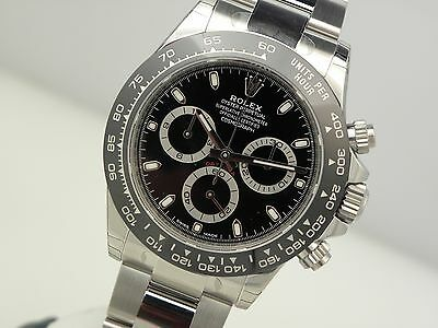 $ CDN36865.15 • Buy Rolex Daytona 116500 LN Mens Stainless Steel Ceramic Bezel Black Dial 40mm Watch