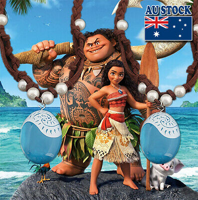 AU6.98 • Buy Disney Movie Moana Blue Magic Stone Pendant With Rope Pearl Necklace Cosplay