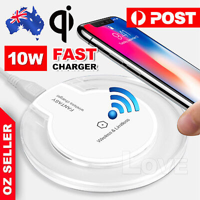 AU6.85 • Buy QI Wireless Charger Charging Pad Mat Receiver For IPhone12 Pro Samsung Note10