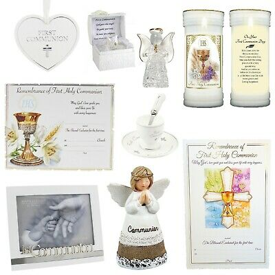 First 1st Holy Communion Gifts, Certificate, Photo Frame, Plaque - Choose Item • 7.79£