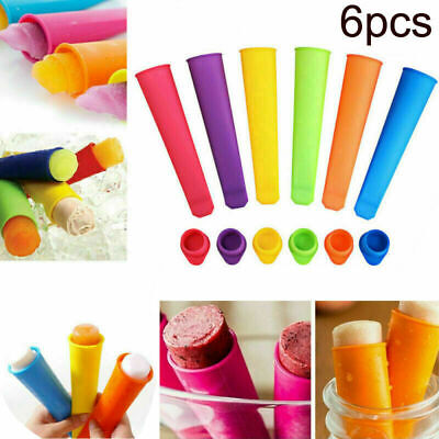6X Silicone Push Up Frozen Stick Ice Cream Pop Yogurt Jelly Lolly Maker Mould UK • 4.86£