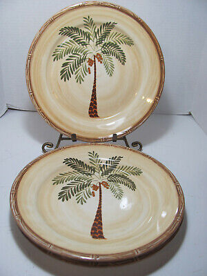 $17.50 • Buy Home Trends Stoneware West Palm Set Of 3 Dinner Plates