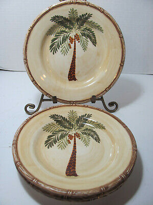 $9.95 • Buy Home Trends Stoneware West Palm Set Of 4 Salad Plates