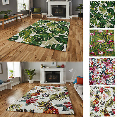Modern Style Flamingo Floral Botanical Tropical Pattern Durable Carpets/Rugs • 59.95£