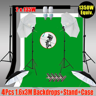 AU107.81 • Buy Photography 4 Backdrop+Support Set Studio Umbrella Continuous Lighting Stand Kit
