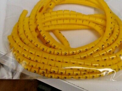 Z TYPE CABLE MARKERS SIZE 7 NUMBERS BLACK ON YELLOW Approx. 400 In Each Bag • 1£