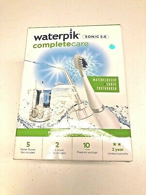 View Details Waterpik WP-861 Complete Care 5.0 Water Flosser And Electric Toothbrush - WHITE • 54.99$