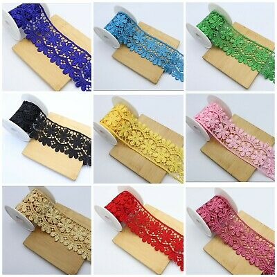 5 Cm Broad Beautiful Daisy Lace Trim Colours Guipure Ideal For  Embellishing Sew • 2.99£