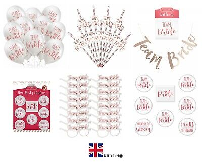 TEAM BRIDE HEN PARTY FAVOURS Fillers Night Do Fancy Dress Tribe To Be Squad UK • 2.48£