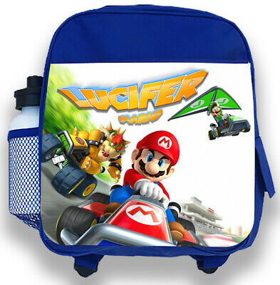 Personalised Kids Backpack Any Name Mario Boy Childrens Back To School Bag • 14.95£