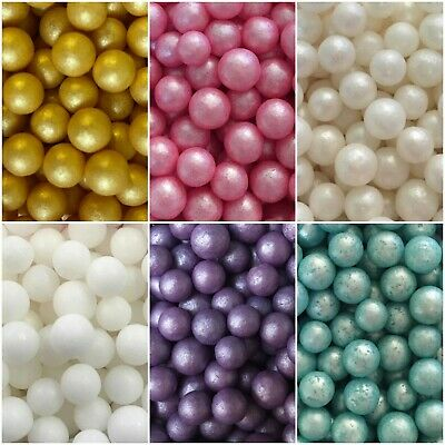 £2.25 • Buy Edible 6-7mm Pearls Balls Cupcake Sprinkles Cake Toppers Decoration Wedding Baby