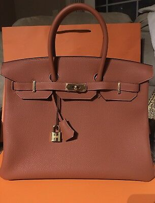 AU23800 • Buy **Brand New **HERMES 35 BIRKIN GOLD HARDWARE TOGO LEATHER Cuivre New Color