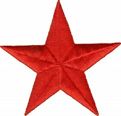 £2.45 • Buy Red Star Patch Embroidered Iron Sew On Applique Corbyn Socialist Biker Rock