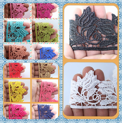 6 Cm Beautiful Daisy Lace Trim Colours Guipure Ideal For Embellishing Sewing  • 2.89£