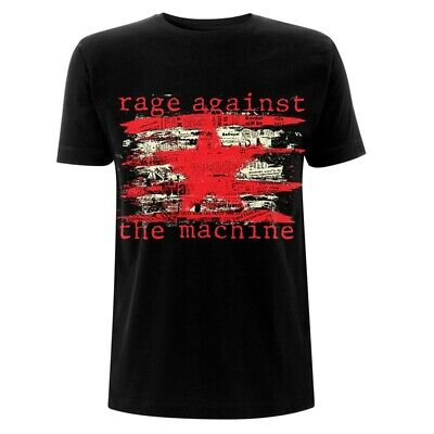 Official Rage Against The Machine T Shirt Newspaper Star Black Classic Rock Band • 14.99£