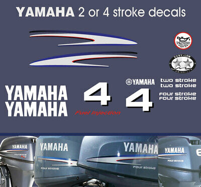 AU38 • Buy YAMAHA 4hp 2 Stroke And 4 Stroke Outboard Decals