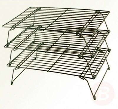 Buckingham Three Tier Stackable Non-Stick Cake Cooling Rack System, Steel, ... • 21.98£