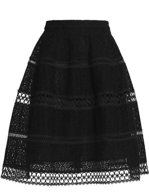 $93.85 • Buy New Zimmermann Skirt Embroidered Black Broderie Women's Size 1 S Lace Midi Lace