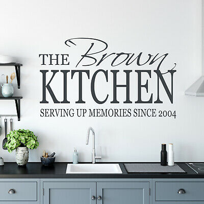 £6.38 • Buy Personalised Family Name Kitchen Quote Wall Sticker Transfer Decal Vinyl V030