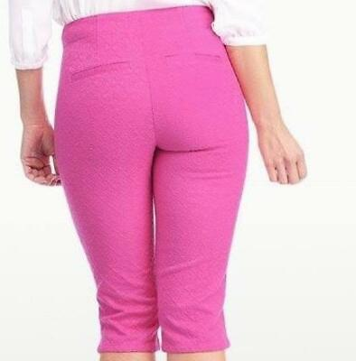 $19.99 • Buy Not Your Daughters Jeans NYDJ Tummy Tuck CACTUS FLOWER PINK Women's Shorts Reg