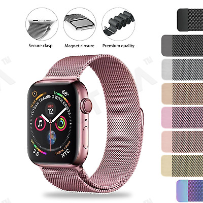 AU7.99 • Buy Apple Watch Series SE 6 5 4 3 2 1 Milanese Magnetic Stainless Steel Strap Band