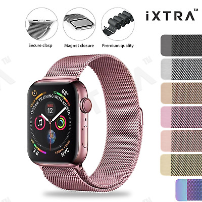 AU7.99 • Buy 【iXTRA®】Apple Watch Series 7 SE 6 5 4 3 2 Milanese Magnetic Stainless Steel Band