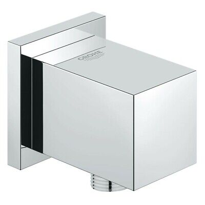 £24.99 • Buy Grohe Euphoria Cube Shower Wall Outlet Connection 27704 Chrome Hose Connector