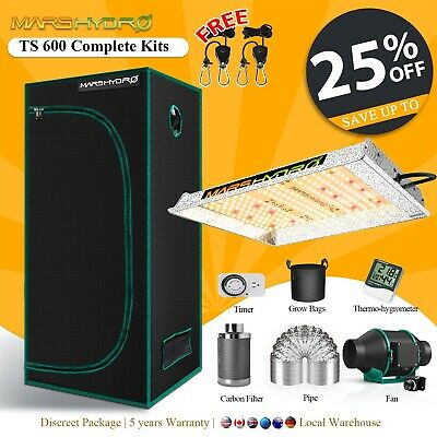 AU484.58 • Buy Mars Hydro TS 600W LED Grow Light+Carbon Filter Combo +Grow Tent Complete Kit