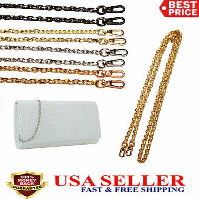 $6.89 • Buy Metal Chain Replacement Strap Handle Shoulder Crossbody Handbag Purse Bag USA