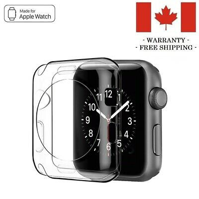 $ CDN4.95 • Buy 38mm 42mm Silicone Clear Case Cover Protector For Apple Watch Series 3 2 1