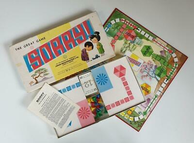 VINTAGE 1960's 'SORRY' BOARD GAME (WADDINGTONS) - COMPLETE & EXCELLENT CONDITION • 29.95£