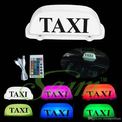 $35.94 • Buy Rechargeable Taxi Cab Sign Roof Light LED Roof Top Light Magnetic Remote Control