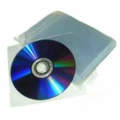 £5.99 • Buy 100 X 120 Micron Plastic CD DVD Wallets Excellent Quality Plastic Sleeves 1 Disc