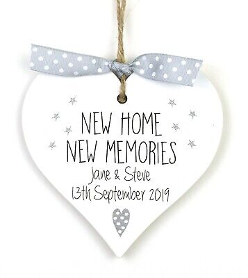 Personalised New Home Housewarming Gift Heart Plaque Sign Moving Memories House  • 7.25£