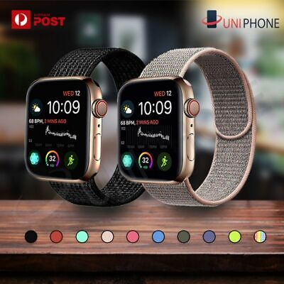 AU7.88 • Buy Sport Nylon Woven Loop Strap IWatch Band 38 42 For Apple Watch Series 5 4 3 2 1