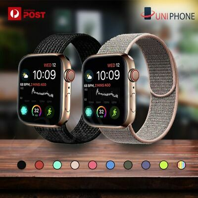 AU6.77 • Buy Sport Nylon Woven Loop Strap IWatch Band For Apple Watch Series SE 6 5 4 3 2 1