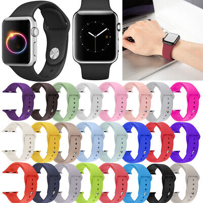$ CDN4.99 • Buy For Apple Watch Series 4/3/2/1 40/44 Replacement Silicone Wrist Sport Band Strap
