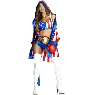 £31.81 • Buy Get 'Em Boxing Champ Adult Womens Costume, 557764, Forplay