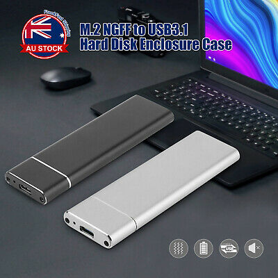 AU17.90 • Buy M.2 NGFF SATA TO USB 3.1 SSD Enclosure Case Type-C Hard Disk Box Adapter C