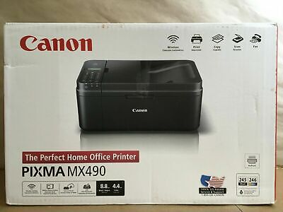 View Details NEW Canon MX490 Wireless Color Inkjet Printer Scanner All-In-One • 49.99$