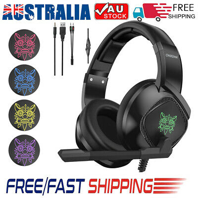 AU28.95 • Buy ONIKUMA K8 Gaming Headset Mic Surround Stereo Bass With Mic For PC PS4 Xbox.etc