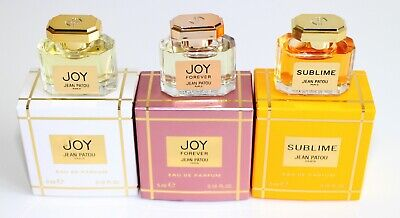 Jean Patou Miniature Collection 5ml Each Of Joy, Sublime & Joy Forever EDP • 23.99£