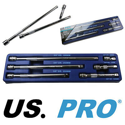 US PRO Tools 6pc 3/8  Dr Extension Bars Socket, Sockets Bar Set NEW 4138 • 12.47£
