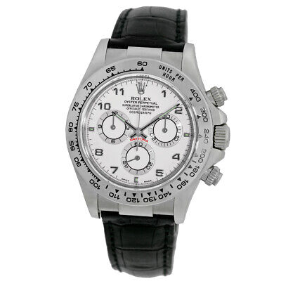 $ CDN25350.69 • Buy ROLEX 18K White Gold 40mm Daytona Cosmograph 116519 White Dial Box Warranty