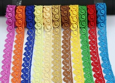 2M Beautiful Daisy Fine Edge Lace Trim Colours Guipure Ideal For Sewing,Embesh • 2.99£