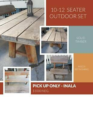 AU500 • Buy Solid Timber Outdoor Setting (seats 10-12)