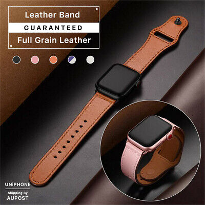 $ CDN13.20 • Buy 【Genuine Leather】Apple Watch Band Strap Series SE 6 5 4 3 2 1 38 42 40 44 Mm