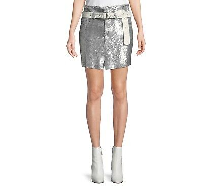 $ CDN236.86 • Buy IRO Natou Belted Sequin Skirt Size 8 Originally $530