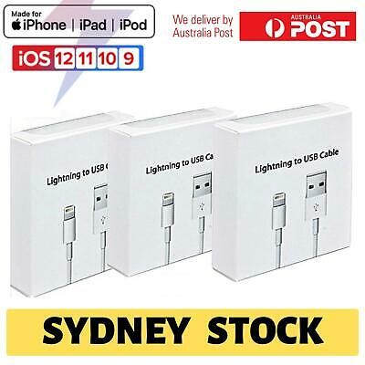 AU7.49 • Buy 3x USB Lightning Charging Cable Data For Apple Charger IPhone IPad 6 8 7